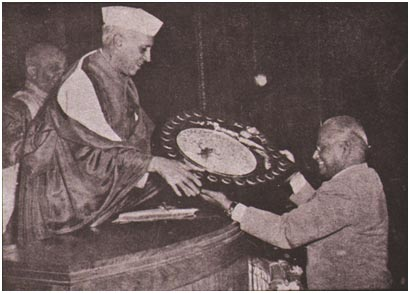 R Ahmed receiving Forestry Award 1953